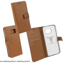 "Fontastic OZBO PU Tasche ""Diary Leda"" - braun - für Samsung Galaxy S7"