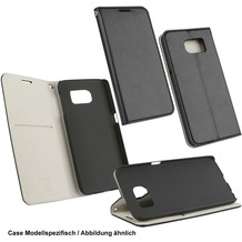 Fontastic OZBO PU Tasche Diary Supra - schwarz/grau für Samsung Galaxy S6