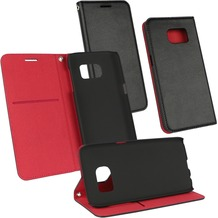 OZBO PU Tasche Diary Supra - schwarz/rot - für Samsung Galaxy S6
