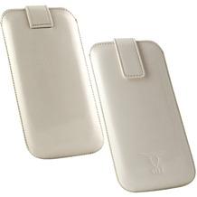 Fontastic OZBO PU Tasche Pearl 2XL - weiß - 142x72x10mm
