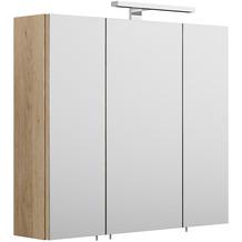 Posseik Spiegelschrank - multi-use - Eiche-Hell klein