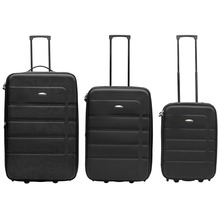 Packenger Easy Traveller Koffer 3er-Set, Schwarz