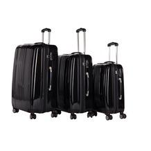 Packenger Premium Koffer 3er-Set Stone M, L+XL in Schwarz