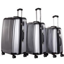 Packenger Premium Koffer 3er-Set Stone M, L+XL in Silber