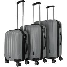 Packenger Premium Koffer 3er-Set Velvet M, L+XL in Grau