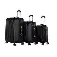 Packenger Premium Koffer 3er-Set Velvet M, L+XL in Schwarz