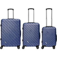 Packenger Vertical Business Koffer 3er-Set, Blau/ Blue