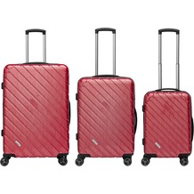 Packenger Vertical Business Koffer 3er-Set, Rot/ Red