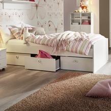 PACK'S Bett Aik Alpinweiß 95x54x206 cm