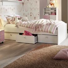 PACK'S Bett Aik, Alpinweiß,mit 3 Schubkästen AR932.0484.90