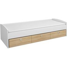 PACK'S Bett Filipo weiß/eiche sonoma 950x540x2060 cm