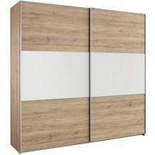 PACK'S Drehtürenschrank Borba eiche sonoma/Alpinweiß 181x210x54 cm