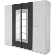 PACK'S Drehtürenschrank Borba weiß/Graumetallic 226x210x54 cm