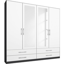 PACK'S Drehtürenschrank Hersbruck Alpinweiß/Graumetallic 181x210x54 cm