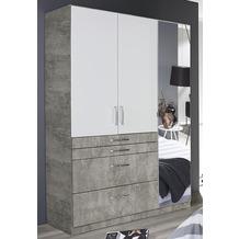 PACK'S Drehtürenschrank Homburg weiß/Stonegrey 136x197x54 cm