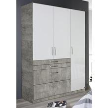 PACK'S Drehtürenschrank Homburg weiß/Stonegrey 136x54x197 cm