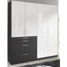 PACK'S Drehtürenschrank Homburg weiß/Graumetallic 181x197x54 cm