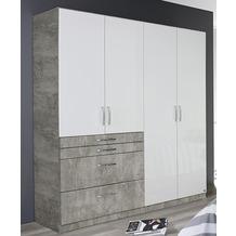 PACK'S Drehtürenschrank Homburg weiß/Stonegrey 181x54x197 cm