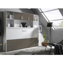 PACK'S Querklappbett Albero weiß/Lavagrau 2120x1980x360 cm