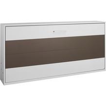 PACK'S Querklappbett Albero, mit Lattenrost Liegefläche 90/200, Weiß/Weiß/Lavagrau, A9P97.7500