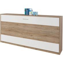 PACK'S Querklappbett Albero eiche sanremo/weiß 2120x1980x360 cm