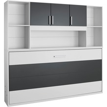 PACK'S Querklappbett Albero weiß/Graumetallic 2120x1980x360 cm