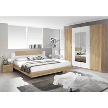 PACK'S Schlafzimmer Borba eiche sonoma/Alpinweiß 180x200 cm