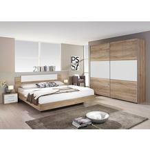 PACK'S Schlafzimmer Borba eiche sanremo/Alpinweiß 160x200 cm