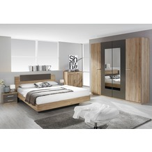 PACK'S Schlafzimmer Borba eiche sanremo/Lavagrau 180x200 cm