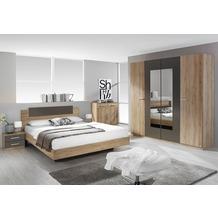 PACK'S Schlafzimmer Borba eiche sanremo/Lavagrau 160x200 cm
