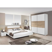 PACK'S Schlafzimmer Borba weiß/eiche sanremo 160x200 cm