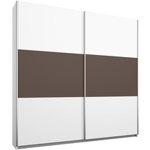 PACK'S Schwebetürenschrank Borba weiß/Lavagrau 175x210x59 cm