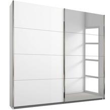 PACK'S Schwebetürenschrank Friedberg weiß/alu 181x210x62 cm