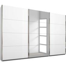 PACK'S Schwebetürenschrank Friedberg weiß/alu 271x210x62 cm
