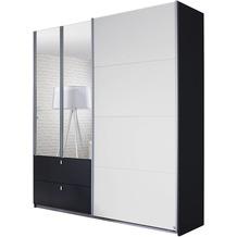 PACK'S Schwebetürenschrank Kombino Alpinweiß/Graumetallic 181x210x62 cm