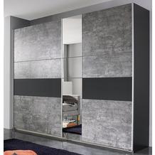 PACK'S Schwebetürenschrank Korbach Stonegrey/Graumetallic 261x210x59 cm