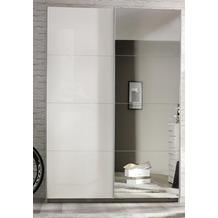 PACK'S Schwebetürenschrank Minosa weiß/alu 136x197x61 cm