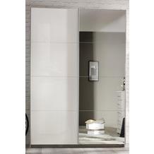 PACK'S Schwebetürenschrank Minosa weiß/alu 181x197x48 cm