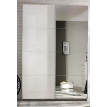 PACK'S Schwebetürenschrank Minosa weiß/alu 181x197x61 cm