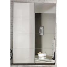 PACK'S Schwebetürenschrank Minosa weiß/Alpinweiß 136x197x48 cm