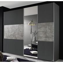 PACK'S Schwebetürenschrank Prenzlau grau/Stonegrey 261x210x59 cm
