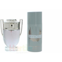 Paco Rabanne Invictus Giftset EDT Spray 100 ml / Deo Spray 150 ml 250 ml