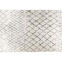 Padiro Teppich Sally 525 Elfenbein / Schwarz / Grau 120cm x 170 cm