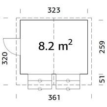 Palmako Marktstand Stella 8,2 m2