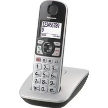 Panasonic KX-TGE510GS, schnurloses Single-DECT Telefon, silber-schwarz