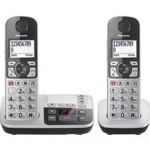 Panasonic KX-TGE522GS, schnurloses Single-DECT Telefon, silber-schwarz