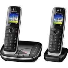 Panasonic KX-TGJ322GB schnurloses Duo-DECT Telefon mit AB, schwarz