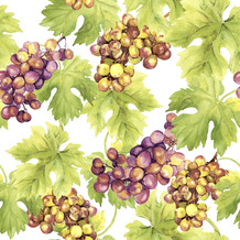 Paper+Design Servietten Tissue Grapes 33 x 33 cm 20er