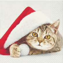 Paper+Design Servietten Tissue 33 x 33 cm Santa cat 20er Pack