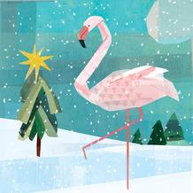 Paper+Design Servietten Tissue 33 x 33 cm Winter flamingo 20er Pack